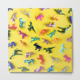 Dino Toys Party Metal Print