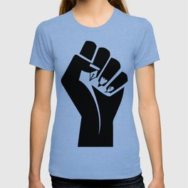 The woman's raised fist 3 T-shirt