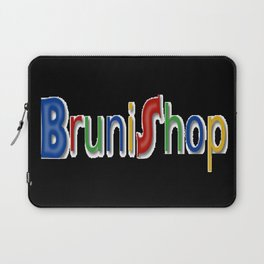 Bruni Shop cool font Laptop Sleeve