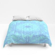 Mandala blue Comforters