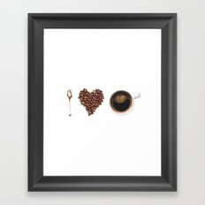 I Love Coffee Framed Art Print