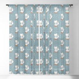 WINTERLAND FOX Sheer Curtain