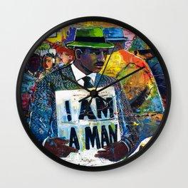 African American Atlanta Civil Rights Memorial Portrait No. 1 Wall Clock