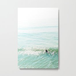 Lone Surfer in the Californian Sun Metal Print