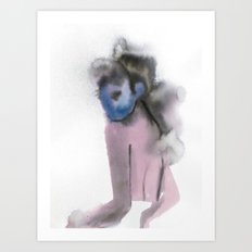 HER SHOULDER Art Print