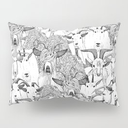 just goats black white Pillow Sham