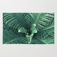 fern Area & Throw Rugs featuring Fern by ravynka