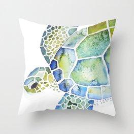 Sea Turtle - coastal - beach - sealife - ocean animals Throw Pillow