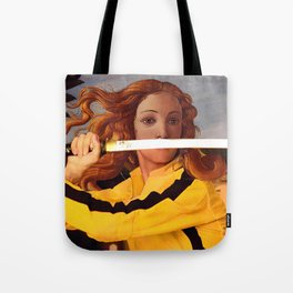 Botticelli's Venus & Beatrix Kiddo in Kill Bill Tote Bag
