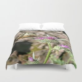 Scarce Swallowtail Butterfly and Thistle Duvet Cover