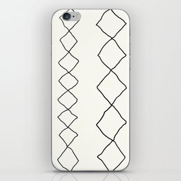 Moroccan Diamond Stripe in Black and White iPhone Skin