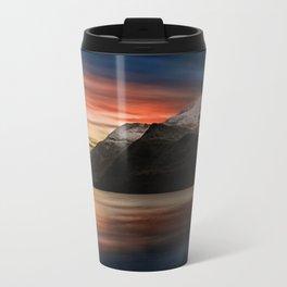 Lake Sunset Snowdonia Travel Mug