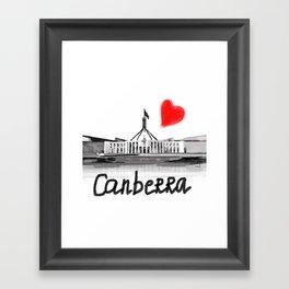 I love Canberra Framed Art Print
