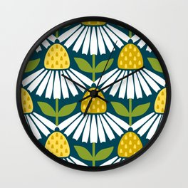 the daisies greet you Wall Clock