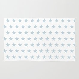 Dove gray stars on white pattern Rug