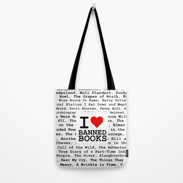 I Heart Banned Books Tote Bag by raylie  7b5256bbc42bb