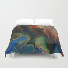 Earth Fire Lava Flow Cells Duvet Cover