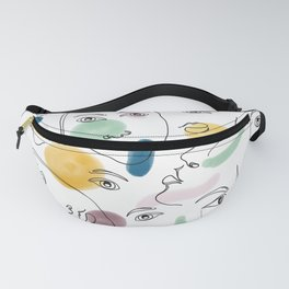 Female Portraits #society6 #figurative Fanny Pack