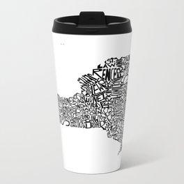 Typographic New York Metal Travel Mug