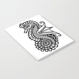 Steampunk Seahorse Stencil Notebook