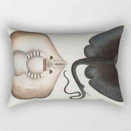 Vintage Stingray Illustration (1785) Rectangular Pillow