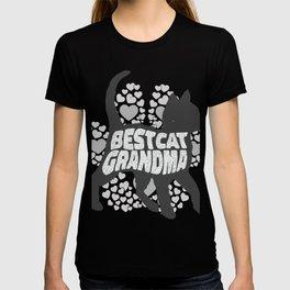 Best Cat Grandma T-shirt