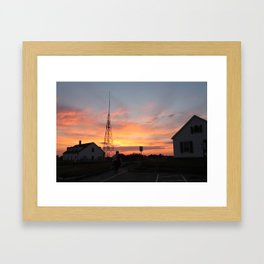 Coastguard Sunset Framed Art Print