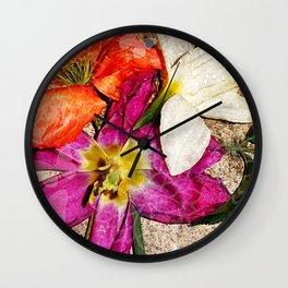 Fleurs vintages Wall Clock