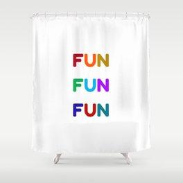 fun fun fun colorful design Shower Curtain