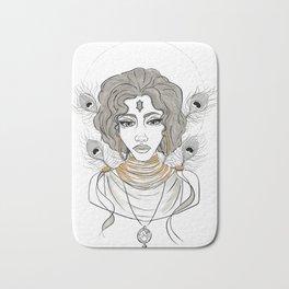 Goddess Oshun Inktober 2016 Bath Mat