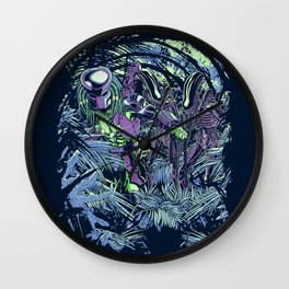 Welcome to the jungle (neon alternate) Wall Clock