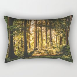 Woods  - Forest, green trees outdoors photography Rectangular Pillow