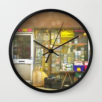 record Wall Clocks featuring Record Store by Cassia Beck