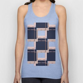 Abstract luxury Square pattern Unisex Tank Top