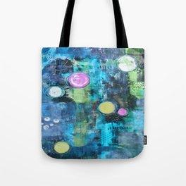 Abstract Floating Circles Tote Bag