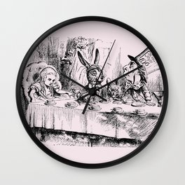 Blush pink - mad hatter's tea party Wall Clock