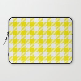 Yellow Vichy Laptop Sleeve