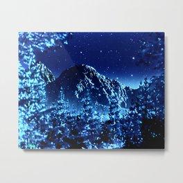 moonlight winter landscape Metal Print
