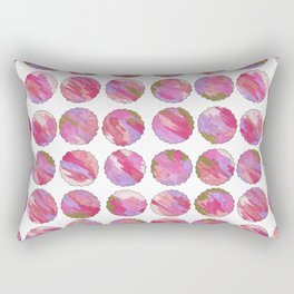 'Twilight' Pink, Purple and Gold Abstract Illustration Rectangular Pillow