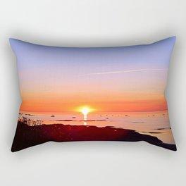 Kayak Silhouette at Sunset Rectangular Pillow
