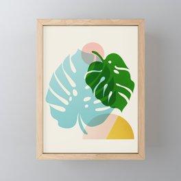 Abstraction_PLANTS_01 Framed Mini Art Print
