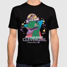 Clevergirl Black Mens Fitted Tee MEDIUM