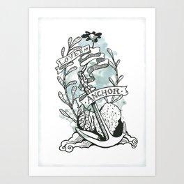 Love is an Anchor Art Print