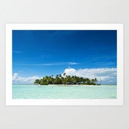 Uninhabited or desert island in the Pacific Art Print
