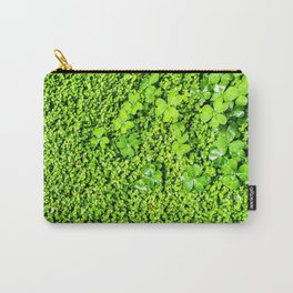 Lush Green Vegetation Growth of Clover Carry-All Pouch