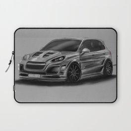 Porsch Cayenne Gray Artrace body-kit Laptop Sleeve
