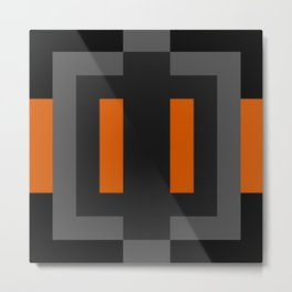 Black and Orange Metal Print