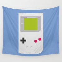 gameboy Wall Tapestries featuring #54 Gameboy by MNML Thing