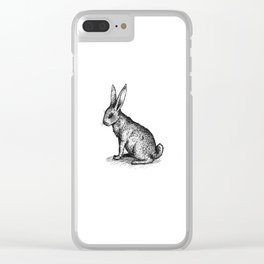 Rabbit in Ink Clear iPhone Case