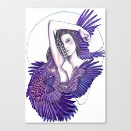 Eagle Woman Canvas Print